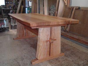 ミズメ無垢一枚板2枚接ぎダイニングテーブル