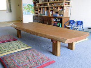 ハード型欅一枚板座卓