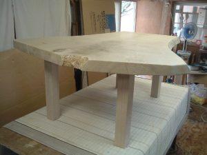 栗一枚板テーブル