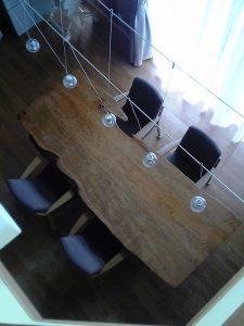 山桜一枚板ダイニイングテーブル