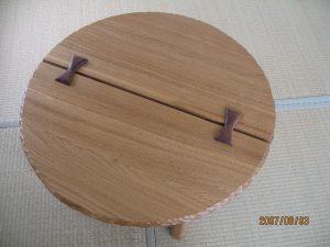 アンティークモダン家具の折りたたみ座卓(ちゃぶ台)
