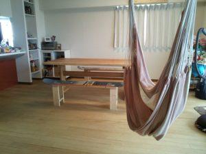 山桜2枚接ぎダイニングテーブル