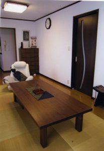 ブラックウォールナットの座卓