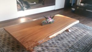 ケヤキ一枚板座卓