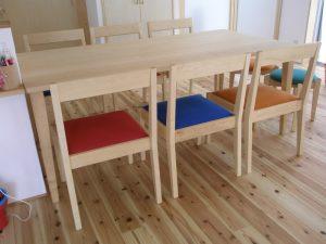 ハードメイプルのダイニングテーブルセット