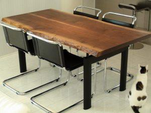 ブラックウォールナット2枚接ぎダイニングテーブル