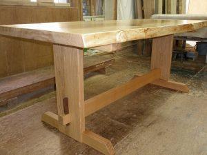 栃一枚板ダイニングテーブル