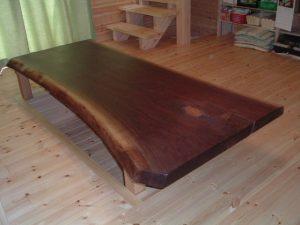 ブラックウォールナット一枚板座卓
