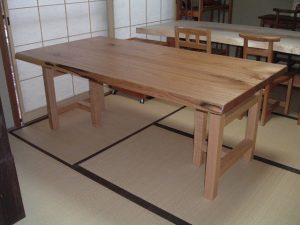 胡桃2枚接ぎダイニングテーブル