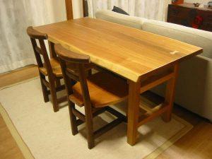 無垢ダイニングテーブルセと椅子