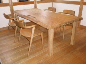 栗一枚板ダイニングテーブル