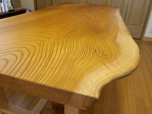 欅一枚板ダイニングテーブル
