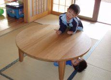 無垢 丸テーブル 円卓
