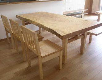 無垢一枚板ダイニングテーブル