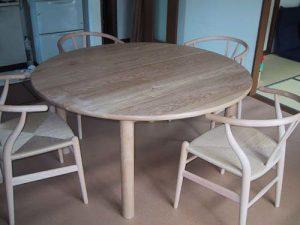 無垢丸テーブル