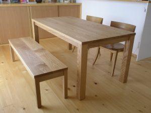無垢手作りシンプルテーブル
