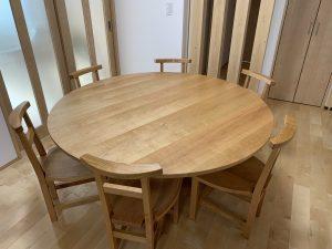 大型丸テーブルセット